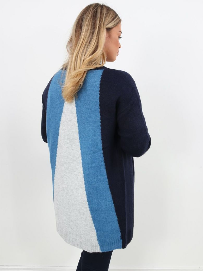 WNT Collection Longline Cardigan Navy