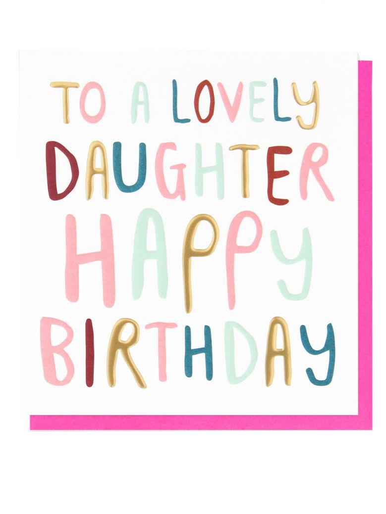 Caroline Gardner Daughter Birthday Card