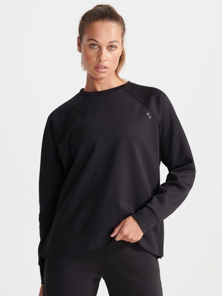 Superdry Black Training Crew Sweatshirt