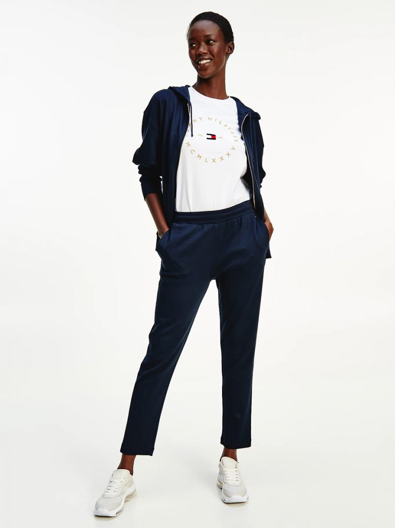 Tommy Hilfiger Desert Sky Pique Tapered Trousers