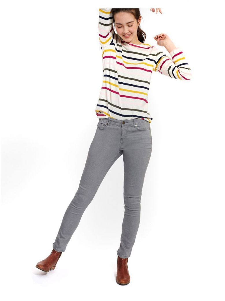 Joules Monroe Washed Grey Super Skinny Jeans