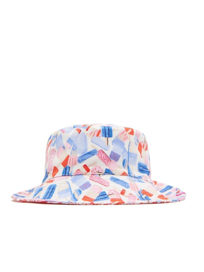Joules Girls Lolly Ditsy Print Mirabelle Foldaway Hat