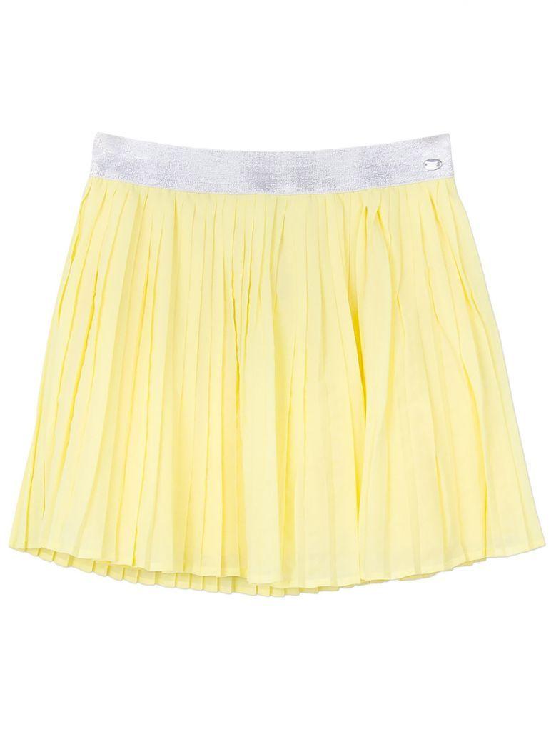 Tiffosi Yellow & Silver Pleated Skirt