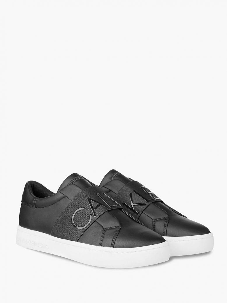 Calvin Klein Jeans Ladies Black Slip-On Trainers