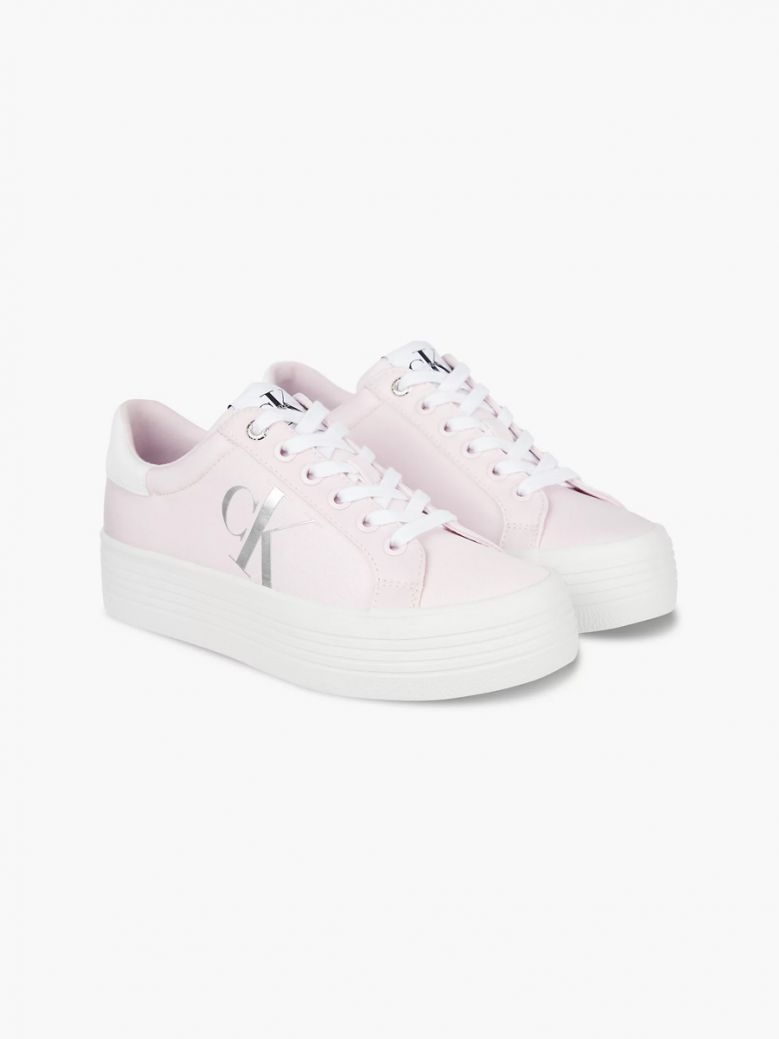 Calvin Klein Pearly Pink Platform Trainers