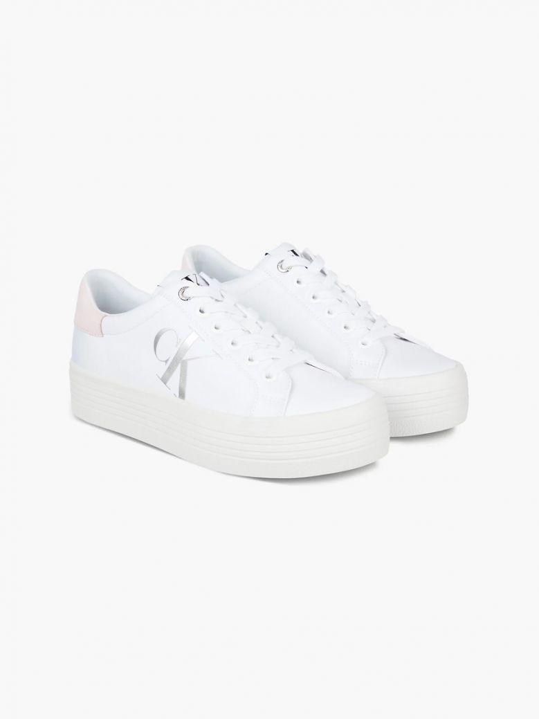 Calvin Klein Bright White Platform Trainers