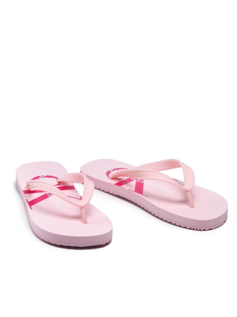 Calvin Klein Pearly Pink Flip Flops