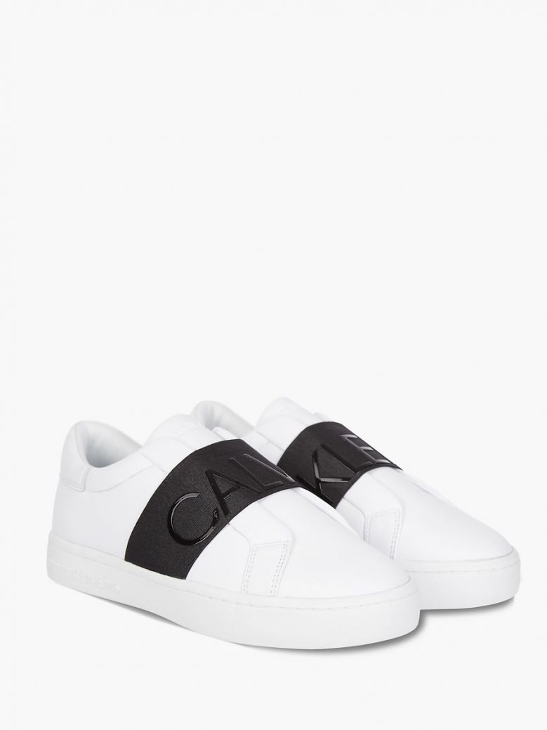 Calvin Klein Jeans Ladies White Slip-On Trainers