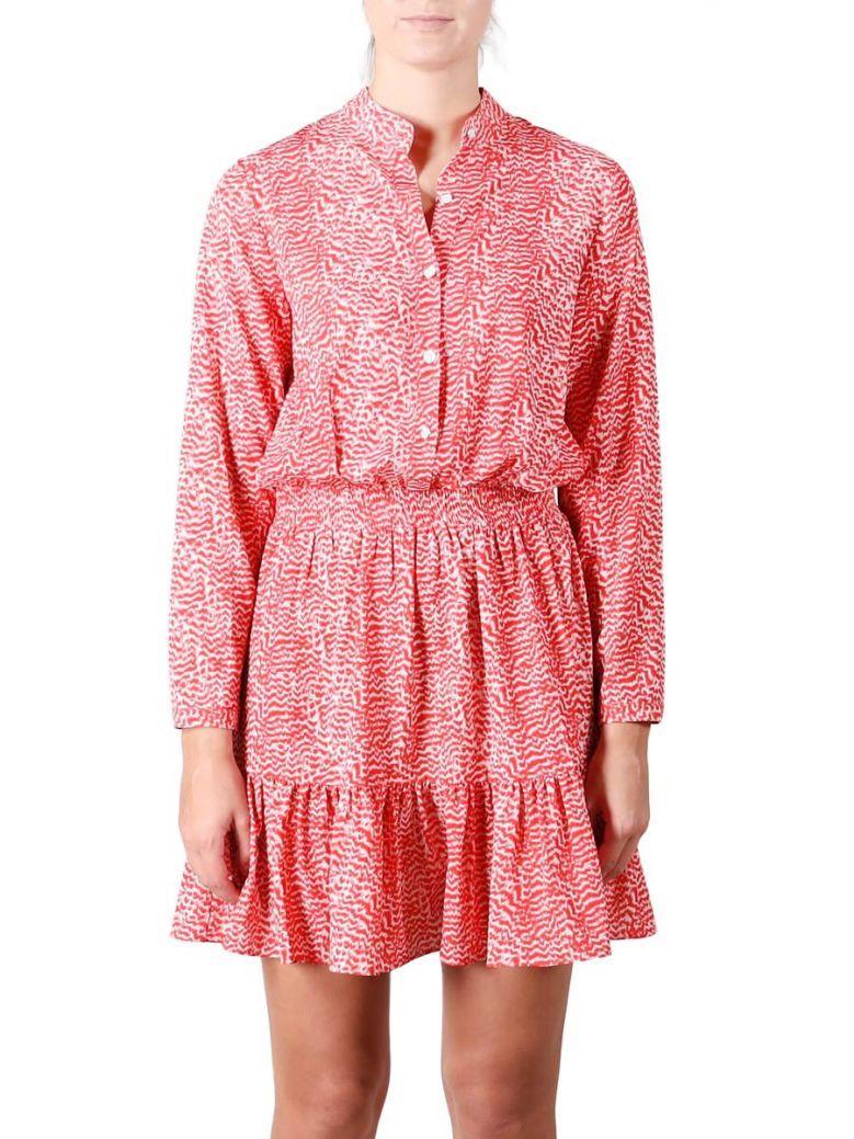 Rino & Pelle Red Flame Spot Shirt Dress