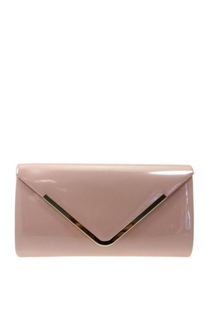 Lunar Elegance Pink Envelope Style Clutch Bag