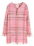 Vilagallo Coral Knitted Check Jacket 25566