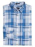Gant Hamptons Blue Regular Fit Madras Irregular Shirt 3014730 420