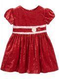 Mayoral Red Velvet Dress 4938 24