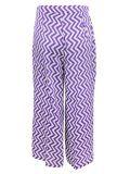Emme by Marella Purple Chevron Culotte Trousers 51311894 001