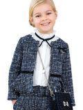 Abel & Lula Navy Tweed Shimmer Jacket 5808 9