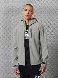 Superdry Grey Marl Hooded Softshell Jacket m5010172a-07q-grey