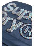 closeup shot of the Superdry Aqua Star Montana Backpack Navy