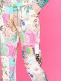 closeup of the Vilagallo Denpasar Patchwork Trousers Multi-Coloured colour featuring pockets