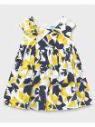 Mayoral Navy & Yellow Floral Print Dress