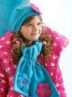 Agatha Ruiz Applique Flower Hat and Scarf Set Turquoise