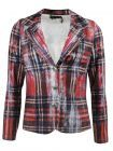 Tricotto Red Abstract Pattern Blazer