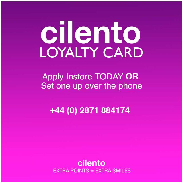 Cilento Loyalty Points Card at the ready.. We are going shopping!!